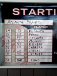 Braves Starting Lineup
